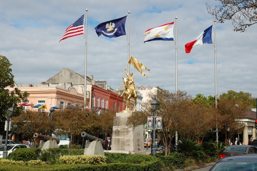 Statue of Ste.  Jeanne D'Arc, French Quarter, New Orleans